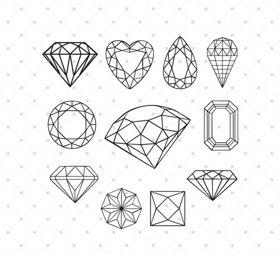 Diamond Svg Cut Files For Cricut Silhouette And Other Vinyl