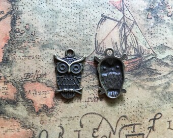 10pcs 14x22mm Owl Charms Handmade Jewelry Pendants Accessories M A