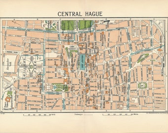 1933 The Hague Netherlands (Holland) Vintage Map