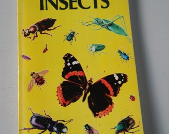 Vintage Golden Guide • Insects Pocket Nature Guide • Mid Century Bug Guide