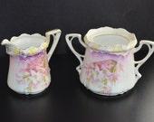 RS Prussia Sugar Bowl Creamer Set Mold 525 Floral Pattern