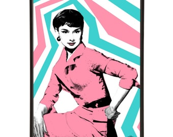 Audrey Style: Art & Hue presents Audrey graphic pop art inspired by the enduring screen icon Audrey Hepburn