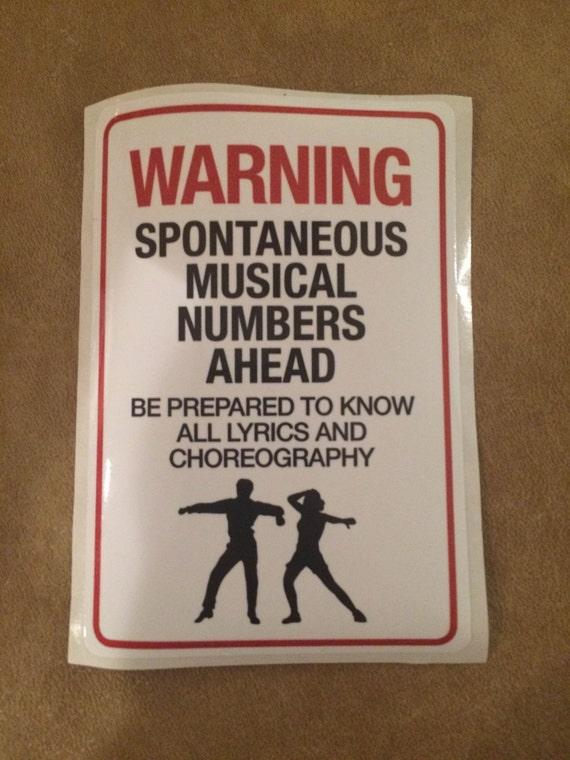 Fun Musical Theatre Sticker