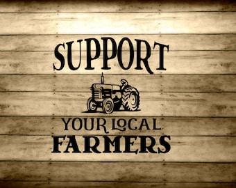 Farm Decal - Support Local Farmers Vinyl - Adult Chicken Vinyl - Homesteader sticker - Farm Lover - Backyard Farmer Gift - Farmers Market
