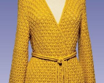 PDF Knitting Pattern Acorn Stitch Kimono #178