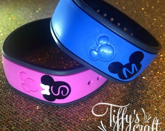 Custom Letter - Mickey or Minnie - Magic Band Decals - FREE Shipping
