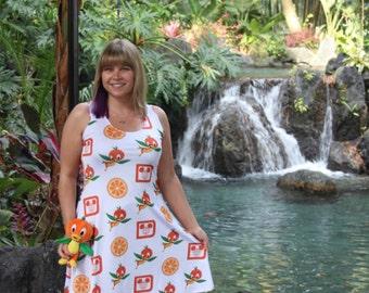 dress / disney / disney parks / florida orange bird / sunshine tree terrace / orange swirl / treat / adventureland