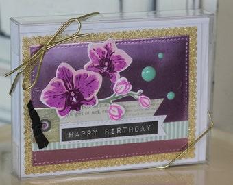 Handmade Orchid Card Set