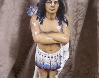 Vintage Ceramic Indian Statue.