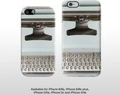 iPhone vintage typewriter phone case. Type writer keyboard print hard cover for iPhone 6 iPhone 5 iPhone 4 T315
