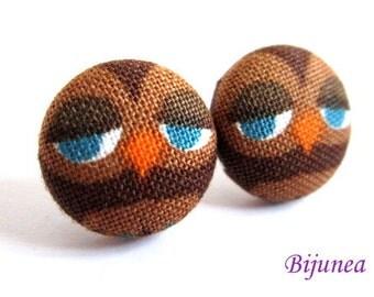 Owl earrings - White owl earrings - Owl studs - Owl stud earrings - Owl posts - Owl post earrings sf1103