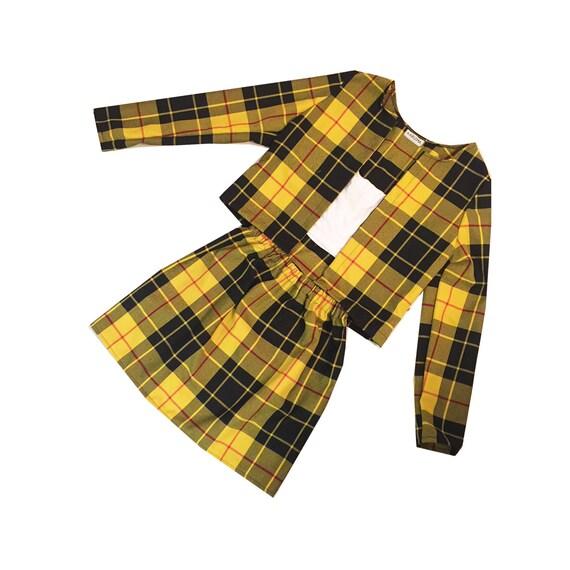 Cheru0026#39;s Yellow Tartan Plaid Two Piece Set Clueless by KARIZMAlondon