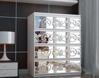 Flower - Trellis - Lattice - Fretwork - Overlays - Furniture Appliques - Makeover - Mirror - Furniture Applique - Refurbish - Sku: FLFLMI