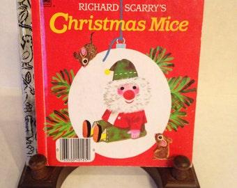Richard Scarry Vintage 1965 Christmas Mice Little Golden Book Mini