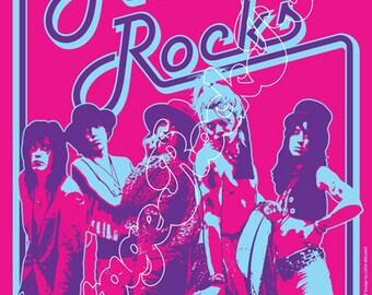 765 - HANOI ROCKS - New York, The Ritz, Us - 21 november 1984  -  artistic concert poster