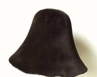Velour Fur Felt Hood - Sable color