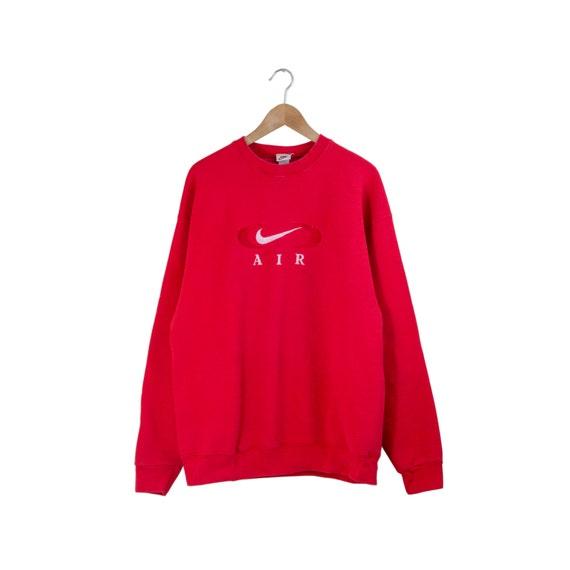90s nike air sweatshirt red nike sweatshirt nike jumper. Black Bedroom Furniture Sets. Home Design Ideas