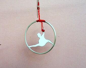 Minimalist Single Statement Earring, Long Silver Earring, Acrobat Earring, Jewellery Contemporary/ Gift Ideas/Valentine gift
