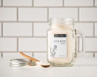 Jasmine Milk Bath, Bath Milk, Organic, Natural, Floral Milk Bath, Organic Milk Bath, Bath soak, Gifts for her, Gifts for women, Spa gifts