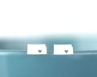 Kansas stud earrings, Kansas state earrings