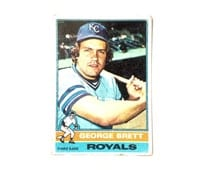 "George Brett - #19 - Royals Third Base 1975 Topps Collector's-Trading Card, 3.5x2.5"" #3976"