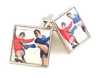 1966 World Cup Cufflinks Vintage Stamps