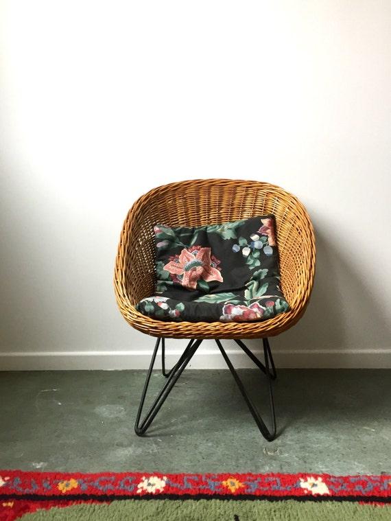 Vintage rattanstuhl korbstuhl kinder vintage loungstuhl for Kleine korbsessel