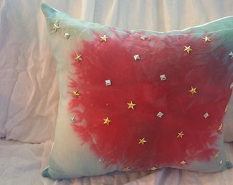 Red White and blue pillow like 4th of July fireworks