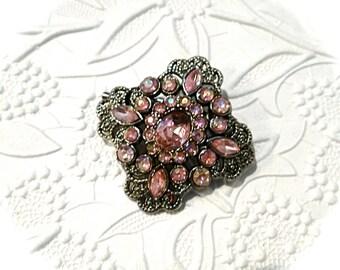 Pink Rhinestone Medallion Pink Embellishments Craft Supplies RB-136