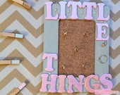 Little Things Pink & Grey Hand Painted 4in x 6in Jewelry Organizer