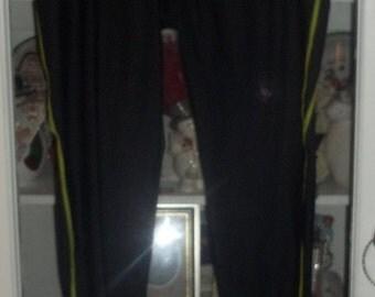 Womens Black Under Armour Stretch Stirrup Leggings Pants XL