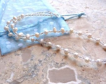 Pearl Necklace June Birthstone Necklace