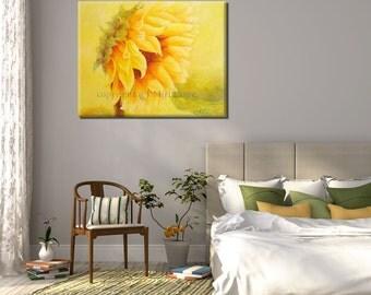 Living room art, Living Room Pictures, Office Art, Office Wall Art Sunflower Print, Sunflower Decor, Flower Wall Decor, Modern Wall Art