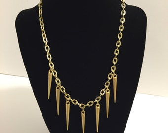 Gold Spikes Necklace