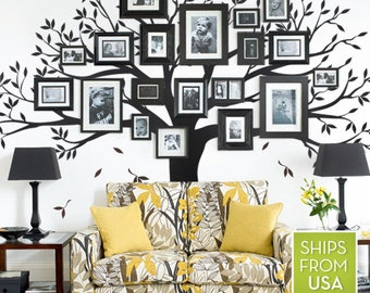 Family Tree Wall Decor family tree wall decal | etsy