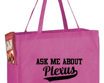 Ask Me About Plexus Promotional Tote Bag, 127000QW, Plexus Swag, AskMeAboutPlexus, Swag Bag, Plexus Accessories, Ambassador, Tote, Cheap