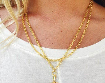Raw Blue Kyanite Pendant Necklace