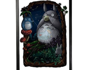 My Neighbour Totoro Studio Ghibli Poster Print - Home Decor - Kids Decor - Nursery Decor - Mother's Day Gift - Japan Comic
