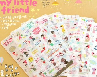My Little Friend Planner Stickers (6 sheets) / Cute Stickers / Korean Stationery / Cute Diary Stickers / Kawaii Stickers / Cute Stationery