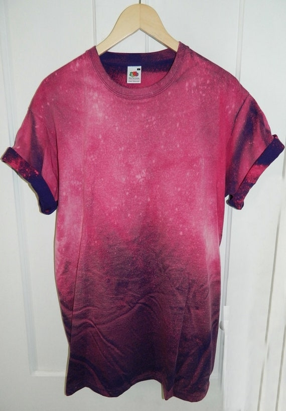 Tie dye t shirt acid wash t shirt hipster festival grunge for How to dye a shirt red