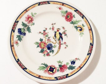 DeWitt Clinton Syracuse china bird of paradise 6 3/8 inch plates, Bread and Butter Plate, Vintage Syracuse China