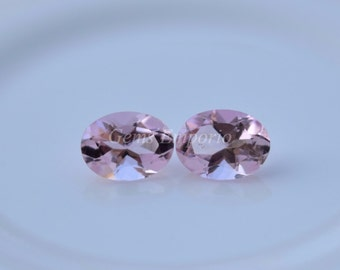 Pink Tourmaline 8x6 MM Faceted Oval / Fine Pink Peach Color. Priced per piece.