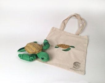 Stuffed Sea Turtle and Matching Tote