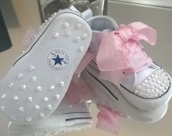 Baby Crib Custom Crystal *Bling* Converse - Many Options Available