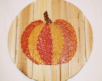 Fall Pumpkin String Art
