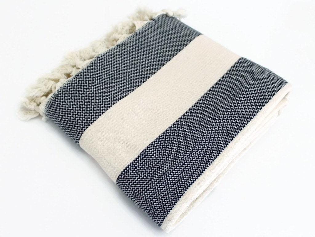 Navy Blue Striped Throw Blanket Organic Sofa Wrap by  : ilfullxfull911263101mg0q from www.etsy.com size 1024 x 769 jpeg 175kB