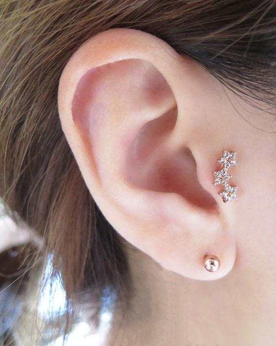 Star Ear Piercing/Tragus Piercing/Cartilage earring/Star Ear Piercings Cartilage