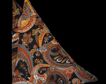 Paisley Black Gray - Essential PLUS Pocket Square