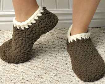 Plush Slippers-made to order, multiple colors available.
