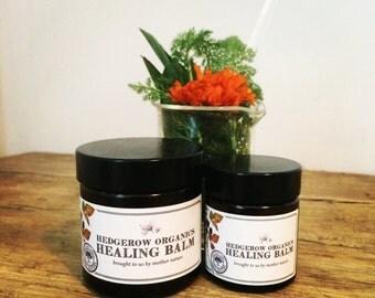 Healing Balm - Neroli (100% Organic). Calms psoriasis, skin allergies, eczema, spots, stings, tattoo, promotes healing. Handmade by Hedgerow